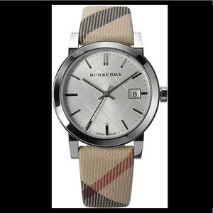 Burberry check women's watch